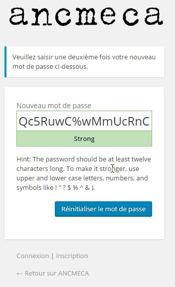 ANCMECA › Réinitialiser le mot de passe - Google Chrome