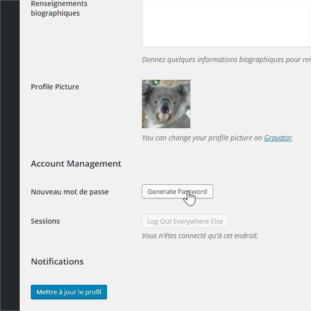 Profil ‹ ANCMECA — WordPress -mot passe profil