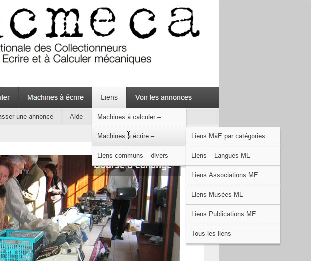 ANCMECA  Association Nationale des Collectionneurs de Machines à Ecrire et à Calculer - Google Chrome